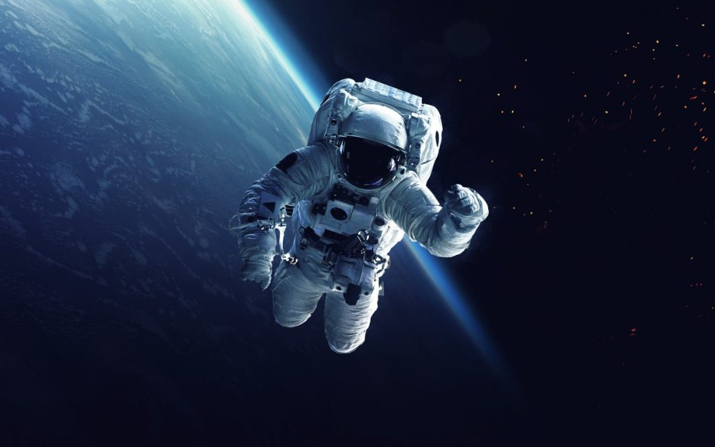 Un astronauta in orbita